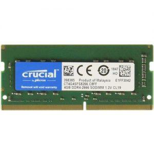 MEMORIA SO-DDR4 4 GB PC2666 (1X4) (CT4G4SFS8266)CRUCIAL